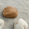 Galet ocre Dordogne 60-90 mm Sable blanc argente 0-2 mm