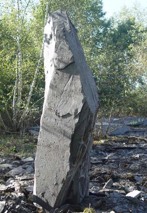 Menhir ardoise déco jardin