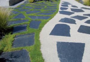 Donnez effet raffiné vos terrasses vos allées grâce nos dalles ardoise!